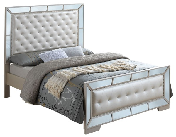 Glory Furniture Hollywood Hills Contemporary Pearl Queen Bed GLRY-G8100A-QB