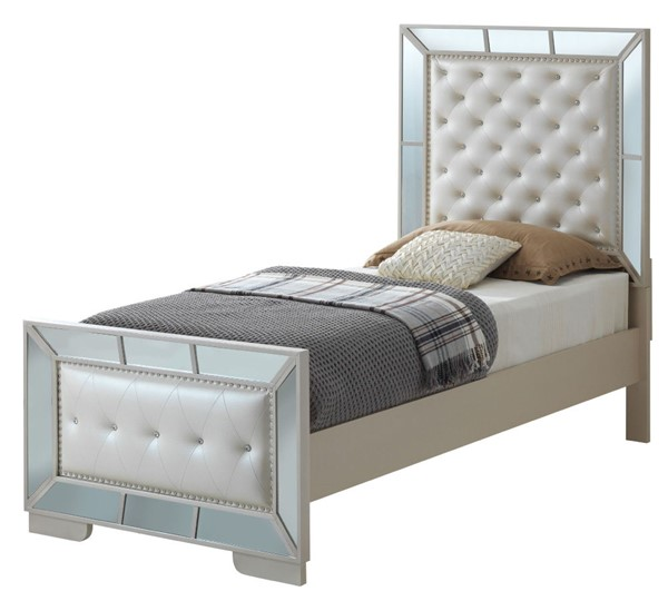 Glory Furniture Hollywood Hills Contemporary Pearl Twin Bed GLRY-G8100A-TB