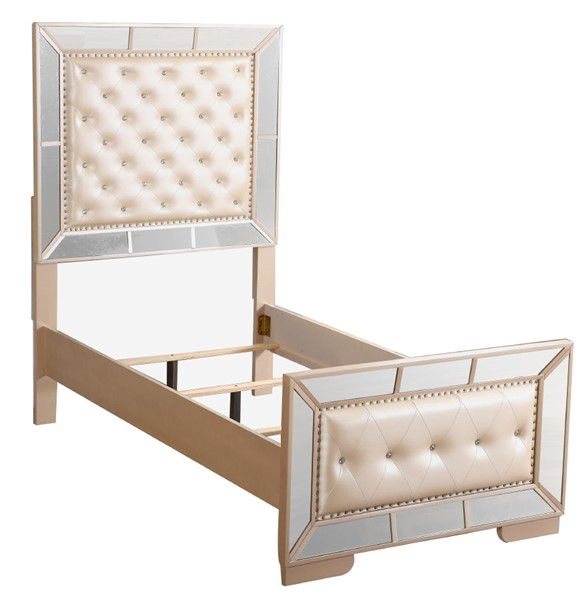 Glory Furniture Hollywood Hills Pearl Twin Bed GLRY-G8100A-TB