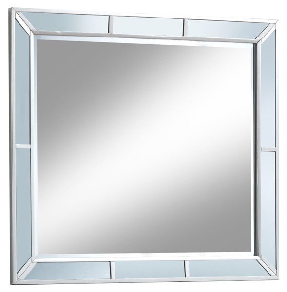 Glory Furniture Hollywood Hills Contemporary Silver Champagne Mirror GLRY-G8105-M
