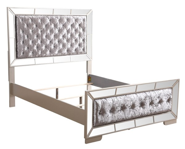 Glory Furniture Hollywood Hills Contemporary Silver Champagne King Bed GLRY-G8105A-KB