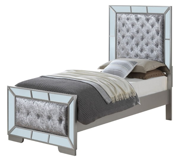 Glory Furniture Hollywood Hills Contemporary Silver Champagne Twin Bed GLRY-G8105A-TB
