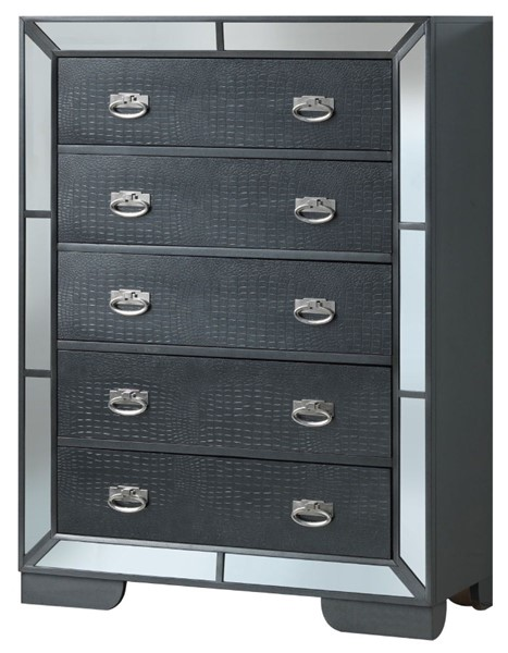Glory Furniture Hollywood Hills Contemporary Charcoal Chest GLRY-G8150-CH