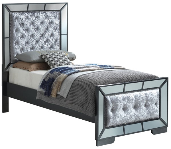 Glory Furniture Hollywood Hills Contemporary Charcoal Twin Bed GLRY-G8150A-TB