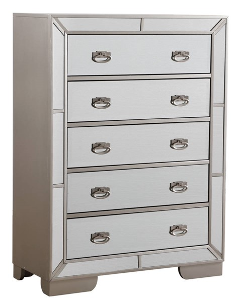 Glory Furniture Hollywood Hills Silver Champagne 5 Drawers Chest GLRY-G8190-CH