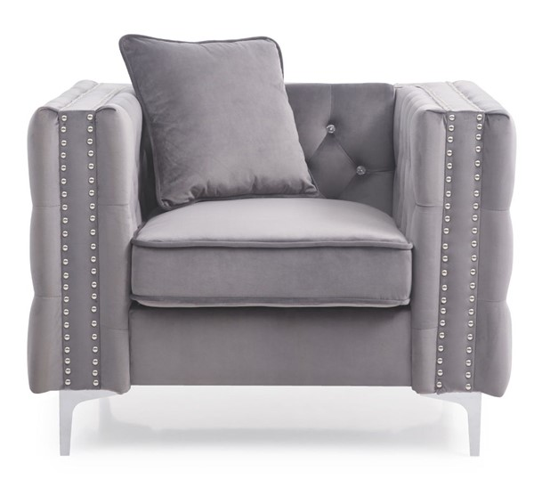 Glory Furniture Paige Contemporary Gray Chair GLRY-G822A-C