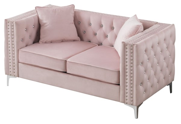 Glory Furniture Paige Pink Loveseat GLRY-G824A-L