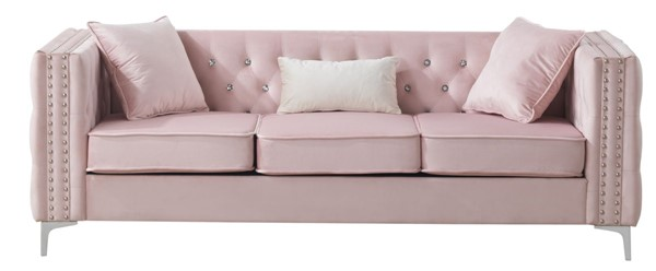 Glory Furniture Paige Pink Velvet Sofa GLRY-G824A-S