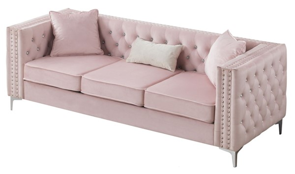 Glory Furniture Paige Pink Sofa GLRY-G824A-S