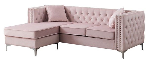 Glory Furniture Paige Pink Sofa Chaise GLRY-G824B-SC