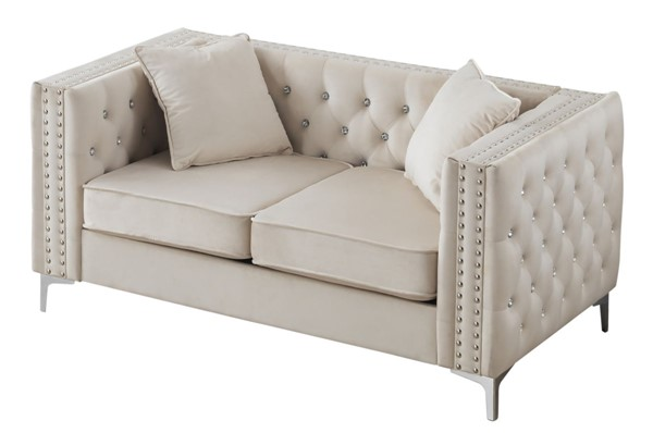 Glory Furniture Paige Ivory Loveseat GLRY-G827A-L