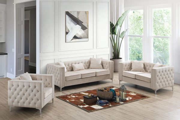 Glory Furniture Paige Ivory 3pc Living Room Set GLRY-G827A-LR-S4