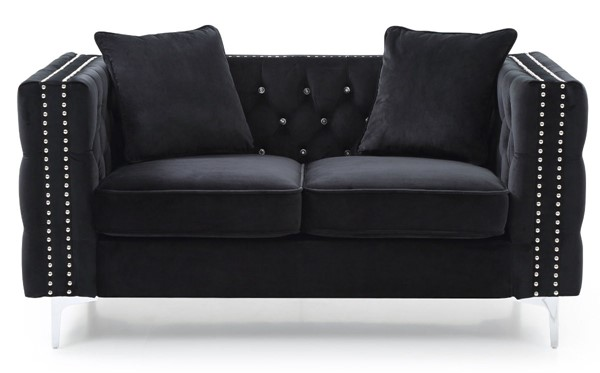 Glory Furniture Paige Contemporary Black Loveseat GLRY-G828A-L