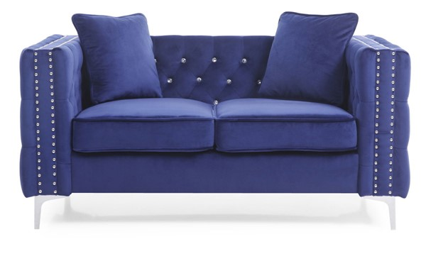 Glory Furniture Paige Blue Velvet Loveseat GLRY-G829A-L