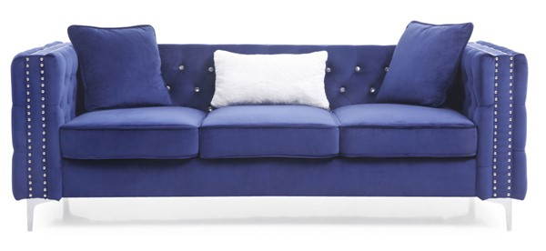 Glory Furniture Paige Contemporary Blue Sofa GLRY-G829A-S