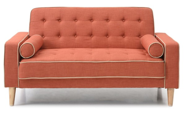 Glory Furniture Andrews Contemporary Orange Loveseat Bed GLRY-G835A-L