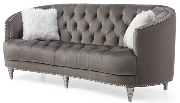 Glory Furniture Dania Gray Velvet Sofa GLRY-G852-S