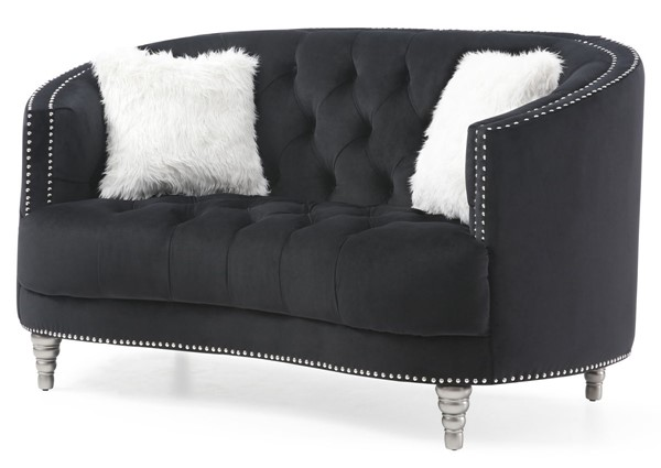 Glory Furniture Dania Black Velvet Loveseat GLRY-G853-L
