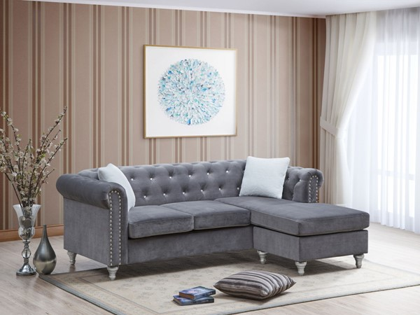Glory Furniture Raisa Gray Blue Sectionals GLRY-G860B-SEC-VAR