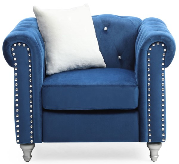 Glory Furniture Raisa Navy Blue Velvet Chair GLRY-G861A-C