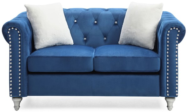 Glory Furniture Raisa Contemporary Navy Blue Loveseat GLRY-G861A-L