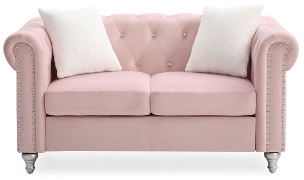 Glory Furniture Raisa Pink Velvet Loveseat GLRY-G864A-L