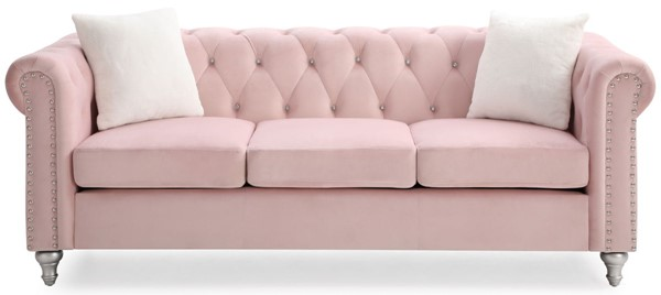 Glory Furniture Raisa Pink Velvet Sofa GLRY-G864A-S