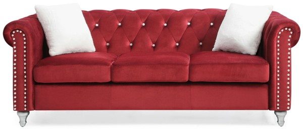 Glory Furniture Raisa Burgundy Velvet Sofa GLRY-G869A-S
