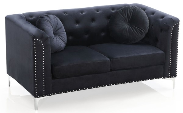 Glory Furniture Pompano Contemporary Black Loveseat GLRY-G893A-L