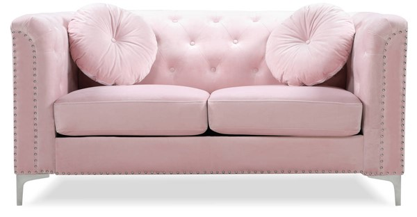 Glory Furniture Pompano Pink Velvet Loveseat GLRY-G894A-L