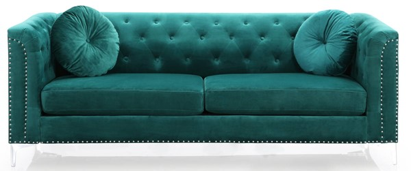 Glory Furniture Pompano Green Velvet Sofa GLRY-G895A-S