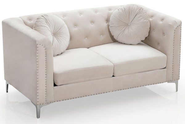 Glory Furniture Pompano Contemporary Ivory Loveseat GLRY-G898A-L