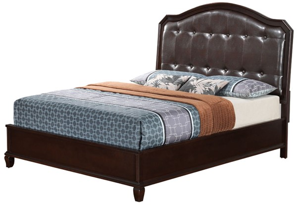 Glory Furniture Triton Cappuccino Faux Leather Queen Bed GLRY-G9000A-QB
