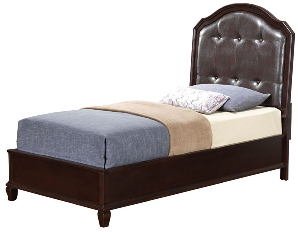 Glory Furniture Triton Cappuccino Faux Leather Twin Bed GLRY-G9000A-TB