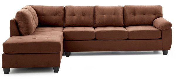 Glory Furniture Gallant Contemporary Chocolate Sectional GLRY-G902B-SC
