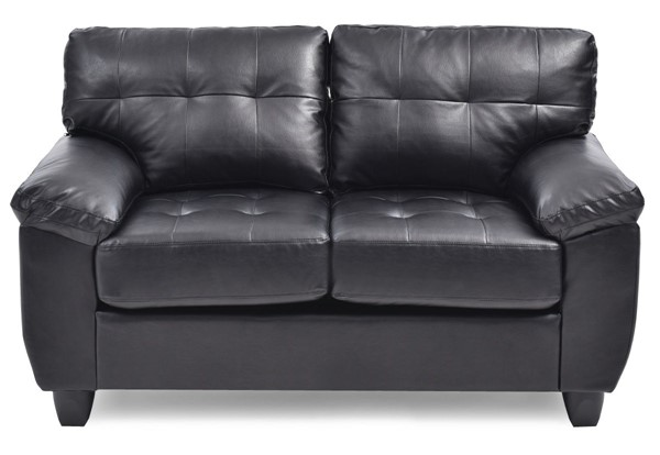 Glory Furniture Gallant Contemporary Black Loveseats GLRY-G90-LS-VAR