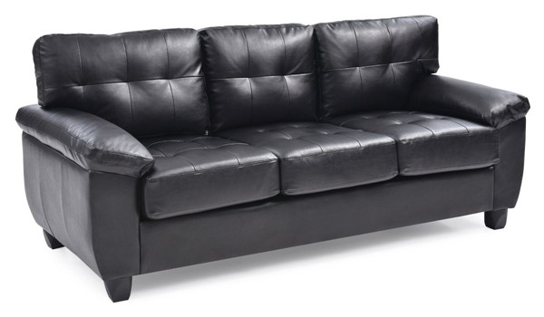 Glory Furniture Gallant Black Faux Leather Sofa GLRY-G903A-S