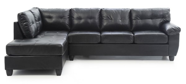 Glory Furniture Gallant Black Faux Leather Sectional GLRY-G903B-SC