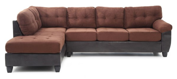 Glory Furniture Gallant Chocolate Brown Microsuede Sectional GLRY-G906B-SC
