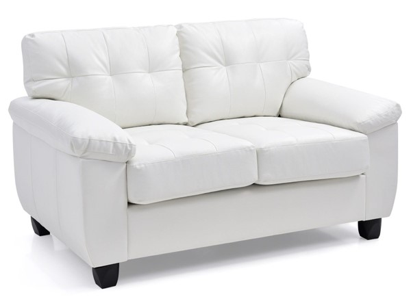 Glory Furniture Gallant White Faux Leather Loveseat GLRY-G907A-L