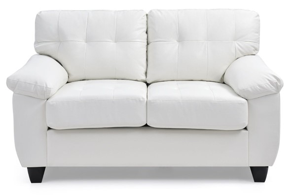 Glory Furniture Gallant Contemporary White Loveseat GLRY-G907A-L