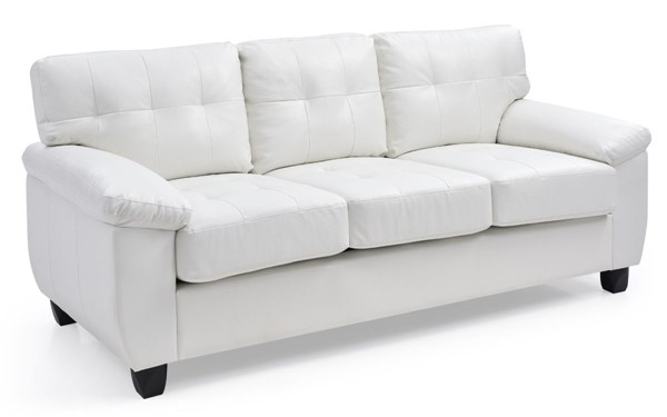 Glory Furniture Gallant White Faux Leather Sofa GLRY-G907A-S