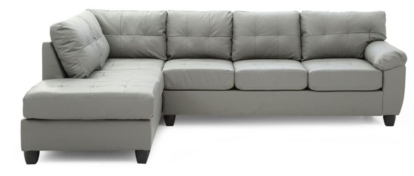 Glory Furniture Gallant Gray Faux Leather Sectional GLRY-G912B-SC