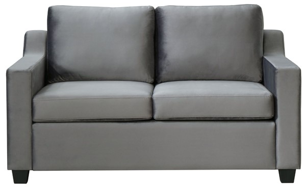 Glory Furniture Ashley Gray Velvet Loveseat GLRY-G973A-L