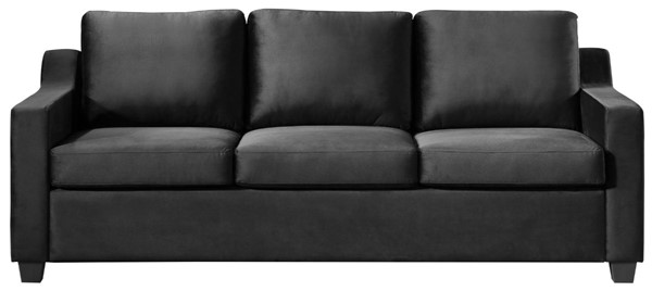 Glory Furniture Ashley Black Velvet Sofa GLRY-G974A-S