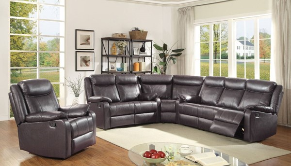 Glory Furniture Ward Contemporary Dark Brown 4pc Living Room Set GLRY-G760A-LR-S1