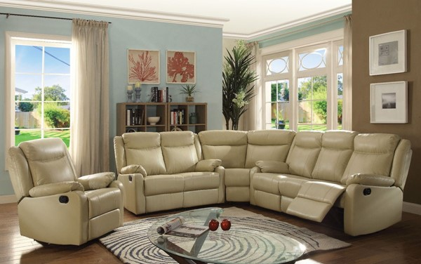 Glory Furniture Ward Contemporary Putty 4pc Living Room Set GLRY-G764A-LR-S5