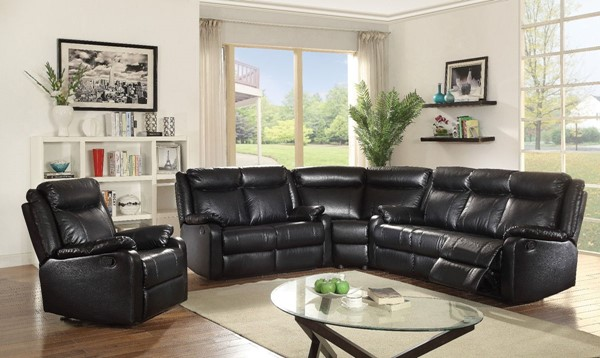Glory Furniture Ward Contemporary Black 4pc Living Room Set GLRY-G761A-LR-S2