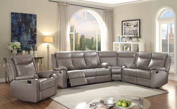 Glory Furniture Ward Contemporary Gray 4pc Living Room Set GLRY-G763A-LR-S4