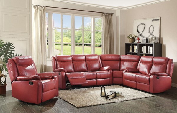 Glory Furniture Ward Contemporary Red 4pc Living Room Set GLRY-G765A-LR-S6